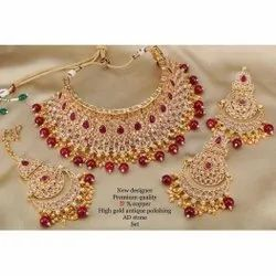 Party Necklace AD Stone Set