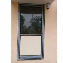 Hinged Plain Aluminium Glass Door, For Home
