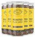 Healthy Treat Roasted Flax Seed - Ajwain Jeera 750 Gm - Pack Of 5 150 Gm Each
