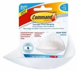 3M Command Soap Dish with Water-Resistant Strips BATH14-ES