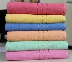 Multicolor Luxury Plain Cotton Terry Bath Towel, 425, Size: 30 Inches X 60 Inches