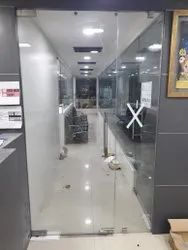 Toughened Glass Door with Fixed