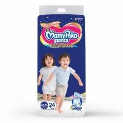 Cotton Disposable Mamy Poko Pant XXXL 24 Pack Pant Diaper, Age Group: 1-2 Years