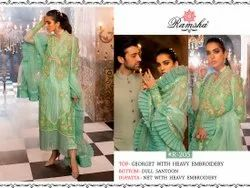 Green Embroidery Suits