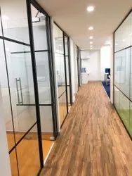 Aluminum Fabrication with Glass Partition Work