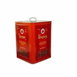 Yellow Expeller Blended Mustard Oil, Packaging Type: Tin