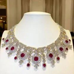 石头钻石项链