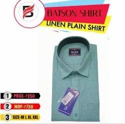 Plain Blue Designer Mens Shirts, Machine wash