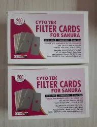 Cellulose White Cyto Tek Cytocentrifuge Filter Cards For Sakura, For Cytology Lab