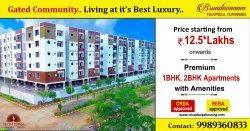 Retirement Homes In Vijayawada,Gated Community 1 BK, 1 BHK & 2 BHK Flats For SALE