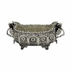 Silver Plated Fruit Basket For Decoration & Corporate Gift