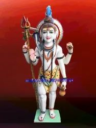 3 Feet Marble Standing Shiv Statue