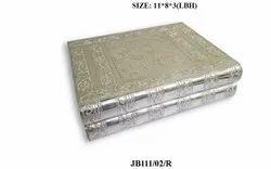 Modern Silver Wooden Jewelry Box, Size: 11*8*3cm