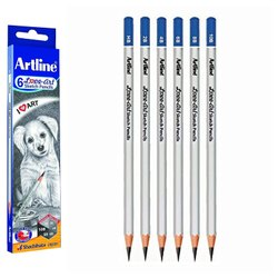 Graphite Black Artline Pencils, For Sketching / Drawing, Packaging Size: 6 Degrees In One Pack