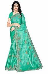 Janasya Women's Multicolor Satin Chiffon Embroidered Saree With Blouse Piece(CHANDA-Pack of 5)