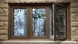 Brown Mild Steel Metal Windows, For Safety