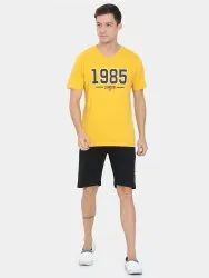 Tshirts & Shorts Reusable Mens Vneck Work From Home Wear, Size: Medium