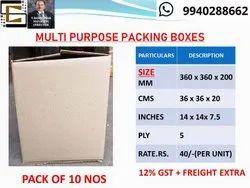 Multi Purpose Packing Carton Corrugated Boxes