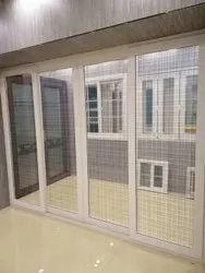 Lever Handle UPVC Frame Glass Door, 10mm