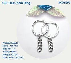 Flat Keychain ring with Flat chain