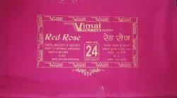 Vimal Red Rose Poly Fab Fabrics
