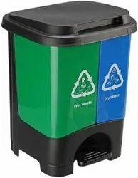 Twin Bin Dry & Wet Waste Dustbin with Pedal (24L)  Plastic Dustbin