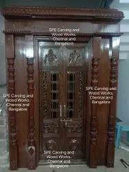 Pooja Mantap Carving