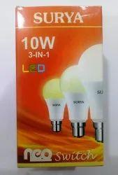 Surya 10W LED Multicolour Bulb