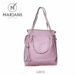 Marjane Ladies Violet Synthetic Leather Hand Bag