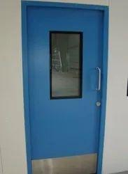 GPSP Blue Single Leaf Scientific Door, Size/Dimension: 1000 X 2100 mm