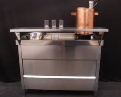 Stainless Steel SS Tea Service Counter, For Catering