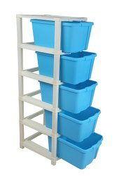 Plastic Multicolor Multipurpose Storage System Space Save Modular Drawer