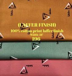 Laffer Finish 100% Cotton Print Laffer Finish Shirting Fabric