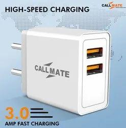 CALLMATE White Adapter 3.0 amp