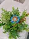 Flower Shape Metal Diwali Diya