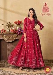 Pure Rayon Anarkali  Kurti Wholesale Catalog 10 Pcs