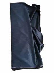 Navy Blue Cotton Blend Fabric, Plain