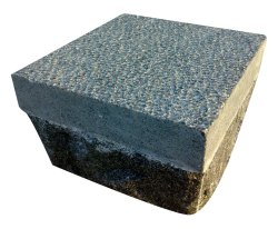 Polished Bush Hammered Granite Tile, For Flooring, Thickness: 75mm