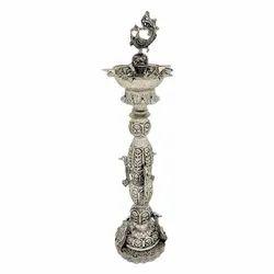 Silver Plated Pooja Diya / Samai For Home , Temple & Corporate Gift