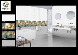 Squad Ceramic White 300x600mm Decorative Wall Tiles, For Flooring, Thickness: 6 - 8 Mm