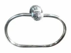 SS 202 Polished Stainless Steel Towel Ring, For Bathroom, Size: Medium