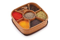 Plastic Masala Box Spice Storage Container (Dabba) - 7 Sections, 700 Ml