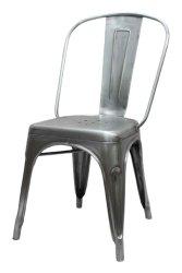 Silver Polished Iron Chair, For Home
