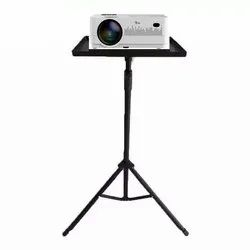 Ts Projector Floor Stand Minimum 4ft - Max 6ft Adjustable From The Ground With Grip Belt