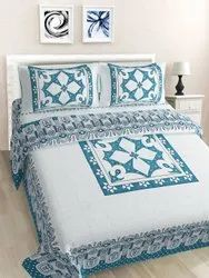 Jaipuri Cotton King Size Bedsheets