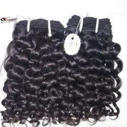 Single Drawn Curly Indian Hair