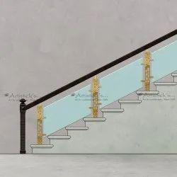 Stairs Glass Railing