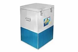 Bobby Brand 200 Kg Capacity Stainless Steel Rice Wheat Container With S.S. Trolley