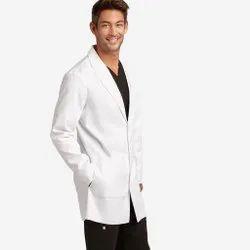 Safewear White Poly Cotton Lab Coat, For Hospital, Machine wash