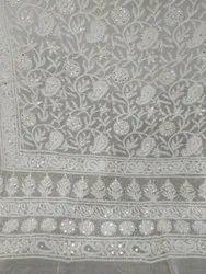 JCE Georgette Lucknow Chikankari Lehenga, Size: Free Size